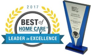 2017 Best of Home Care. Leader in Excellence Trophy