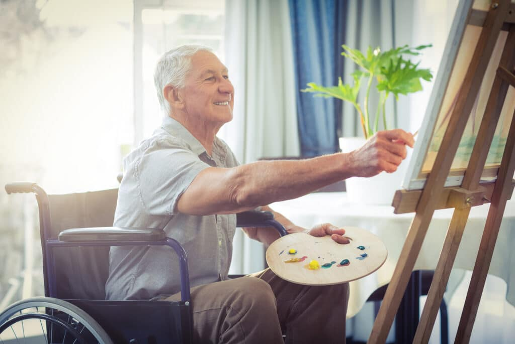 Home Care Services in Oakwood GA: Art Therapy and Elderly Adults
